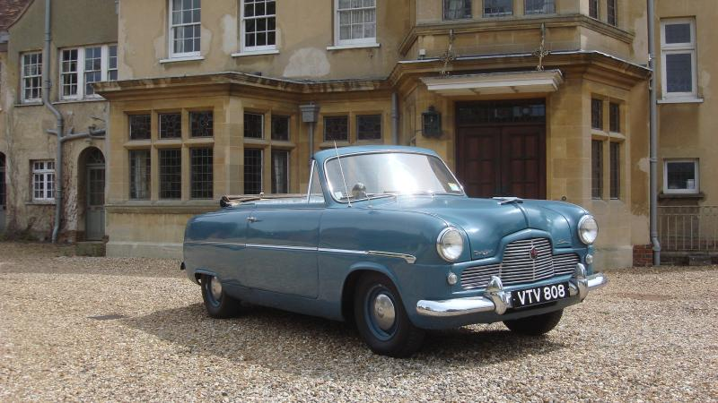 Classic Ford Zephyr Convertible In Cambridge